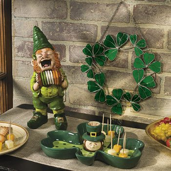 St. Patricks Day Server with Toothpick Holder - Serveware