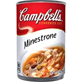 Each satisfying spoonful of Campbell's Condensed Minestrone Soup brims with a bounty of farm-grown veggies-from carrots, potatoes, green beans, peas, tomatoes, zucchini and more!-combined with beans and enriched pasta shells. You'll find comf...