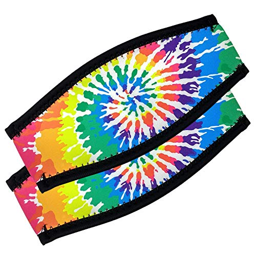 Flow Scuba Gear - Neoprene Cover for Dive and Snorkel Mask Strap (Tie-Dye 2-Pack)