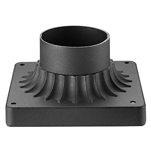 (Emliviar Pier Mount Base, Cast Aluminum Pier Mount Adapter in Black Finish, 20069 BK)