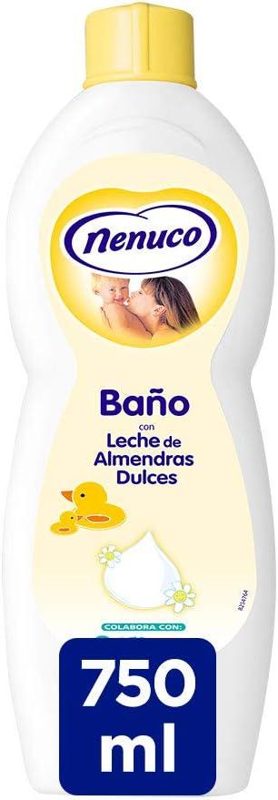 Nenuco Jabón de Baño hidratante para bebé con leche de almendras - 750 ml