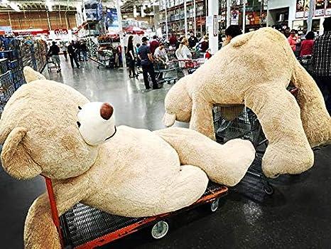 VERCART Oso de Peluche Gigante Teddy Animal de Felpa Gris 130cm