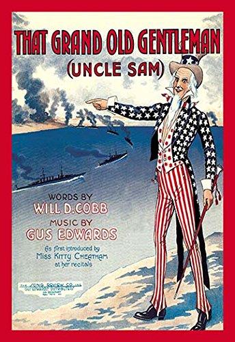 'The Grand Old Gentleman-Uncle Sam' Giclee Fine Art Print