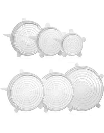 Aofocy 6 pcs/Set Lid-Bowl Pan Tapa de Silicona Tapa de cocción Universal
