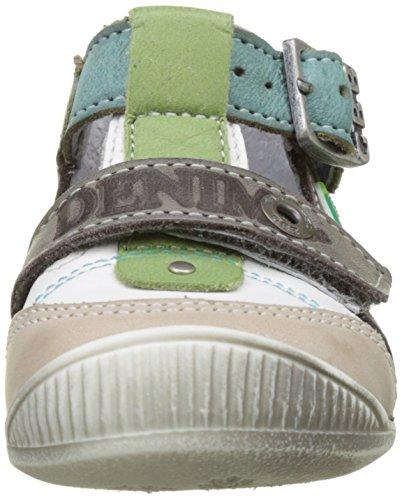 GBB Paul - Zapatos de primeros pasos Bebé-Niñas Marron (Vtu Blanc Vert Dpf/Raiza)