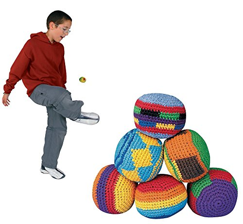 Colorful Hackey Sacks Knitted Kick Balls (Pack of 12) Knitted Cotton!