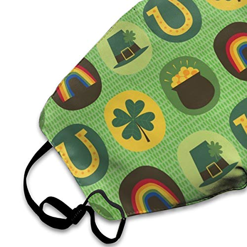NOT St Patricks Day Feeling Lucky Personality Lovely Unisex Dust Mask, Suitable for Young Men and Women, Ski Bike Camping Windproof Motorcycle Face Mask