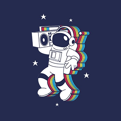 Andy Sticker - Rockin Space Man Astronaut w/Boombox Colorful - Vinyl Sticker