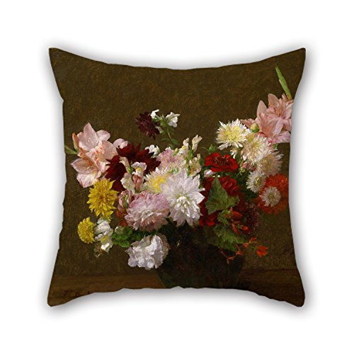 20 X 20 Inches / 50 By 50 Cm Oil Painting Victoria Dubourg (Fantin-Latour) - Flowers Cushion Cases,twice Sides Is Fit For Him,seat,valentine,wedding,coffee House,adults