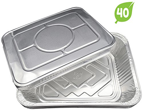 (40 Pack) Aluminum Disposable Half Size Deep Chafing Pans w/ Lids – 9