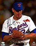 "Nolan Ryan Texas Rangers Autographed 8"" x 10"" Bloody Lip Black Ink Photograph - Fanatics Authentic Certified"