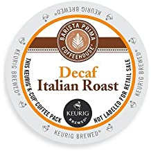 Barista Prima Coffeehouse Dark Roast Extra Bold K-Cup for Keurig Brewers, Decaf Italian Roast Coffee,4 pack of 24 cups each (96 count)