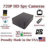 Black Box Spy Camera w/ 30 Day Battery Life Hidden covert Nanny cam