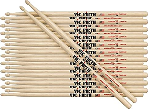 Vic Firth 12-Pair American Classic Hickory Drumsticks Wood 55A (55a Drumsticks)