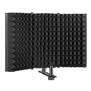 AGPTEK Microphone Isolation Shield, Foldable ...