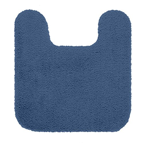 "Maples Rugs Bathroom Rugs - Cloud Bath 20"" x 21.5"" Contour Non Slip Toilet Rug [Made in USA] Machine Washable Soft Bath Mat, Federal Blue"
