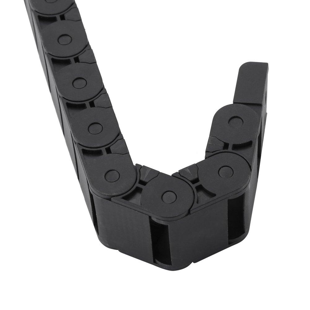 1m Cadena de Arrastre de Nylon Cable de Remolque para M/áquina de Grabado CNC 15mm /× 30mm