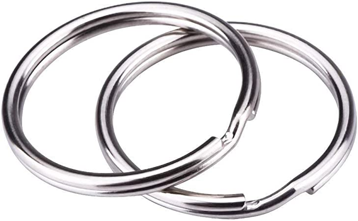Silverx Plated Metal Blank Keyring Keychain Split Ring Keyfob Key Holderx Rings