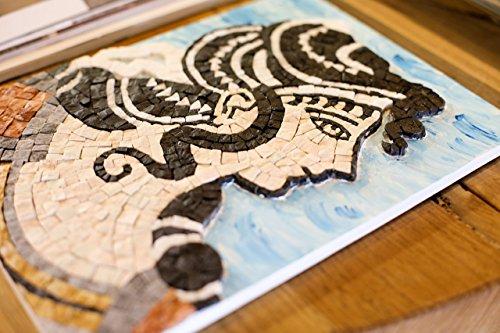 Greek Dancer Ariadne - DIY gift - Mosaic art kit - Mosaic wall art - Italian marble tiles -