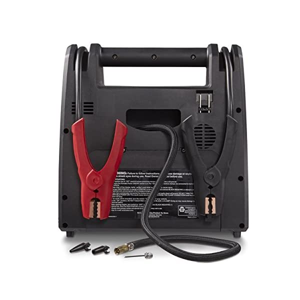 DieHard 2871688 71688 Platinum Portable Power 1150 Peak Amp 12 Volt Jump Starter Power Source With 2 USB 2 12V 2 110V Power Ports 100 PSI Auto Shutoff Air Compressor