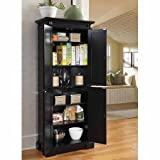 Beautiful Kitchen Pantry, Design Elements, A Black Finish Over Hardwood Solids and Engineered Wood, 2 Adjustable Shelves