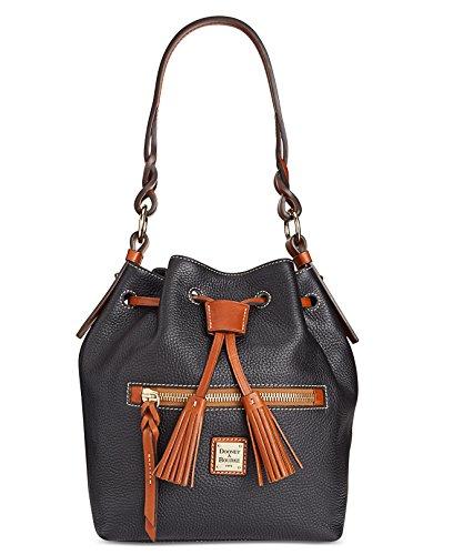 Dooney & Bourke Pebble Small Logan Drawstring Bag (Black) by Dooney & Bourke