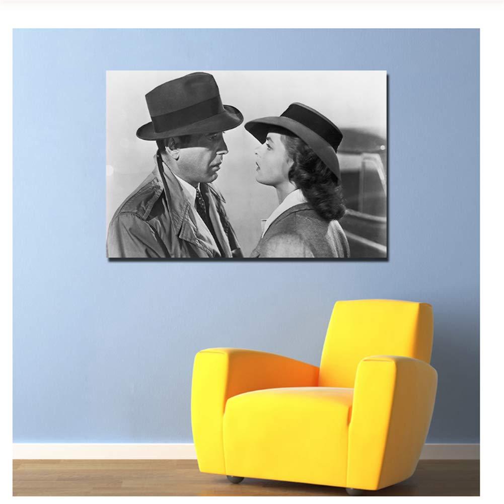 60x90cm Sin marco Casablanca Movie Poster Sin marco Lienzo Pintura Wall Art Pictures Print para sala de estar Imprimir en lienzo