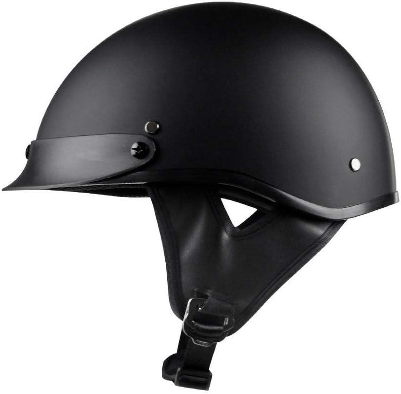 Vintage Chopper Demi-Jet Helmet Retro Harley Moto Casque Hommes 3//4 Retro Open Face Casque ECE Homologu/é