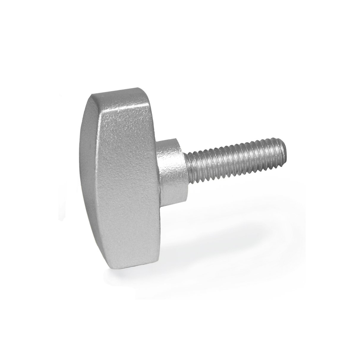 Ganter Standard Elements | Stainless Steel Wing Nut–GN 433Handle Diameter 34mm Stainless Steel Fine Cast Iron Pack of 2, Silver, GN 433-34-M8-20-MT Ganter Normelemente