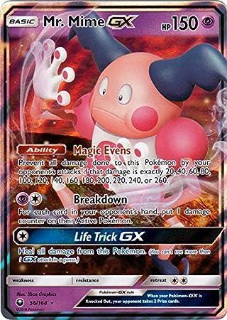 MIME GX Secret Rare FULL ART 173//168 CELESTIAL STORM **MINT** Pokemon Card  Mr
