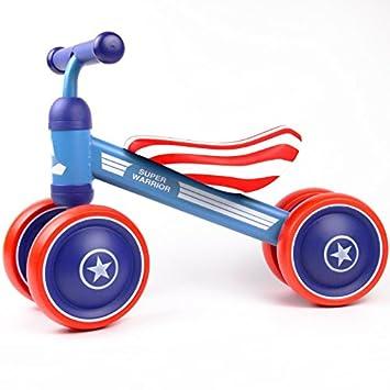 CIFFOSTT Bicicletas para Niños Bicicletas Bicicletas para Niños Walker 10-24 Meses Sin Pedal Pedal para Bebés Cuatro Ruedas Bicicletas para Niños Primer ...