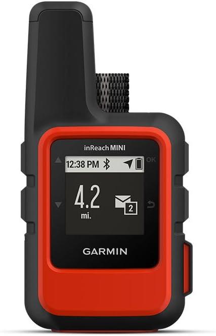 Garmin inReach Mini GPS Mano, Adultos Unisex, Negro, Rojo, Talla Única