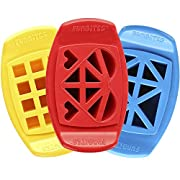 FunBites Food Cutter Set, Yellow Squares/Red Heart/Blue Triangles