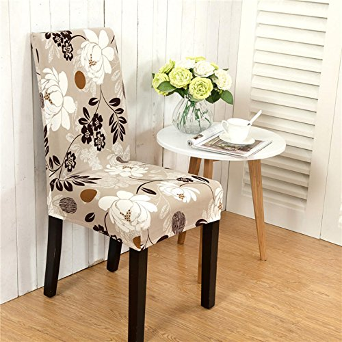 Chairwoman Rear Underwrite - Elegant Flower Landscape Elastic Stretch Chair Seat Cover Dining Home Wedding Decor - Preside Backside Masking Ass Lead Fanny Concealment - 1PCs
