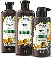 Herbal Essences Bío renew Coconut Milk Shampoo con Acondicionador 400 ml y Crema Para Peinar 300 ml