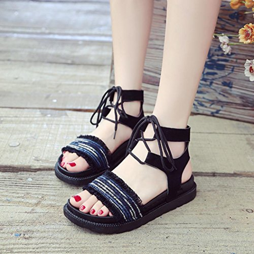 Jamicy Femme Bride Bleu Sandals Cheville 1va41U