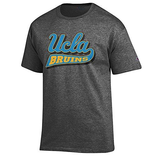 Elite Fan UCLA Bruins Men's Short Sleeve Icon Tee Shirt, Dark Heather, X -