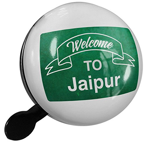 - Small Bike Bell Green Sign Welcome To Jaipur - NEONBLOND