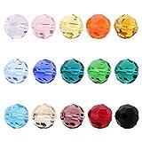 Best BEADNOVA Jewelry Supplies - BEADNOVA 750pcs 6mm Faceted Round Crystal Glass Beads Review