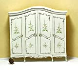 Dollhouse Miniature Artisan Double Hand Painted Ladies Armoire