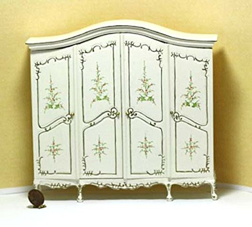 Dollhouse Miniature Artisan Double Hand Painted Ladies Armoire by Dollhouse Miniature