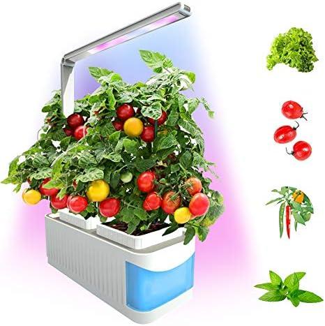 Hydroponics 실내 스마트 허브 정원 성장 시스템 실내 식물을 위한 LED 성장 조명 내장 독서 모드 및 LED 풀 스펙트럼 플랜트 성장 램프 Shungru / Hydroponics 실내 스마트 허브 정원 성장 시스템 실내 식물을 위한 LED 성장 조명 내장 독서 모드 ...