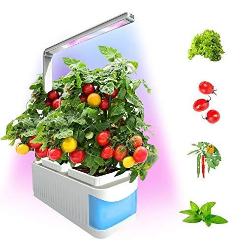 Smart Indoor Garden Kit,Herb Garden Hydroponics Growing System,Xmas Led Desktop Growing Light for Home/Room/Kitchen/Office,Smart Indoor Herb Garden Grow Lamp for Flower/Fruit/Vegetable-(Blue)