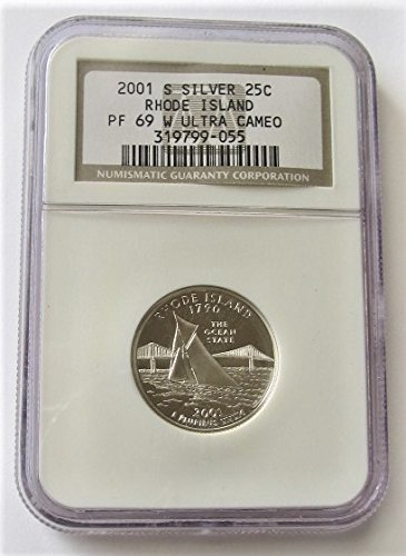 2001 S Rhode Island Silver State Quarter PF69 NGC