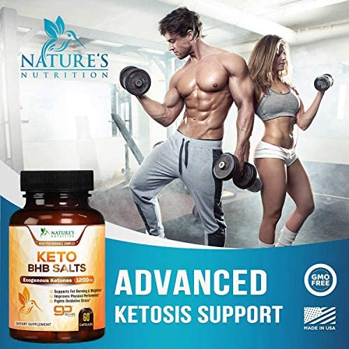 Keto BHB Pills Premium Exogenous Ketones Salts 1200mg - Utilize Your Body's Natural Energy with Ketosis - Made in USA - Ketone Weight Support Supplement with Hydroxybutyrate for Men and - 60 Capsules 3