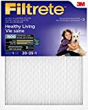 Filtrete MPR 1500 20x25x1 Healthy Living Ultra Allergen Reduction Pleated AC Furnace Air Filter, 6-Pack