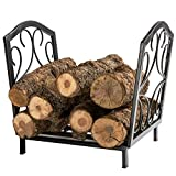 DOEWORKS 17 Inch Small Heavy Duty Indoor/Outdoor Firewood Racks Steel Wood Storage Log Rack Holder