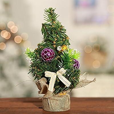 PanDaDa árbol de Navidad Adornos, Mini Mesa árbol de Navidad Decor Pino decoración de la Mesa pequeño Partido Ornamento Xmas Festival de Regalo: Amazon.es: Hogar