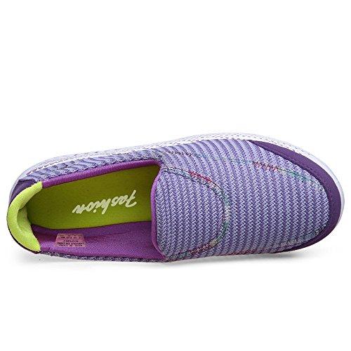 CMEI-RX915zise40 Womens Slip-On Platform Walking Shoes Mesh Elevator Shape Ups Fitness Sneakers Purple 7.5 B(M) US iSDDzO