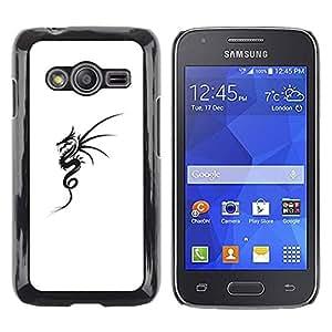 Paccase / SLIM PC / Aliminium Casa Carcasa Funda Case Cover - Black White Tattoo Ink Art - Samsung Galaxy Ace 4 G313 SM-G313F